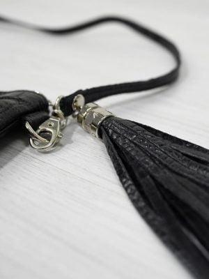 zwarte Dames tas met zilveren details