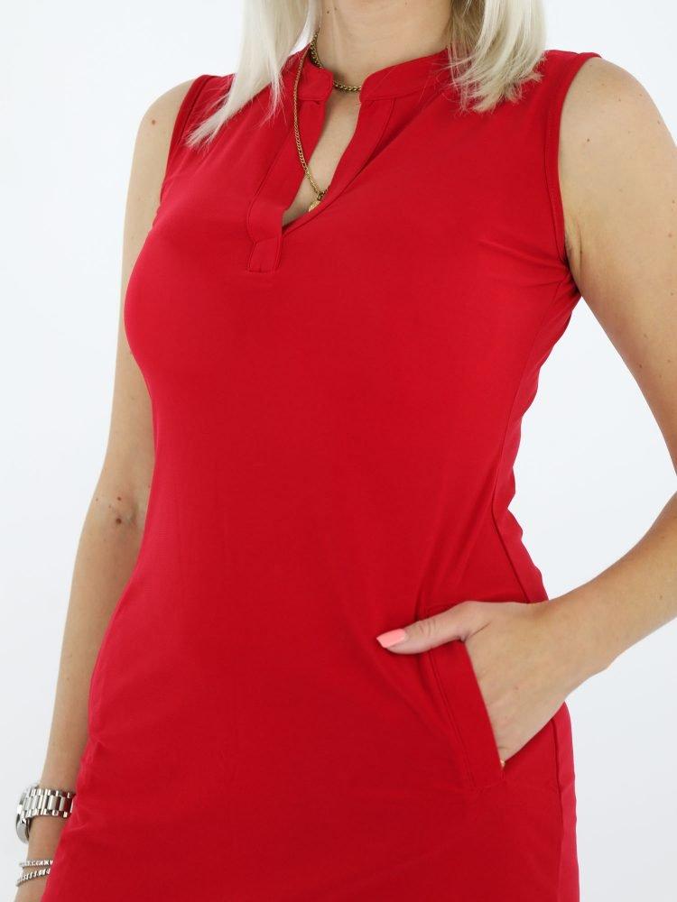 Angelle-milan-rode-mouwloze-travelstof-tuniek