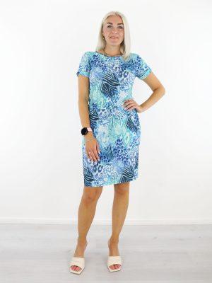 blauwe-travelstof-jurk-met-dierenprint-van-angelle-milan