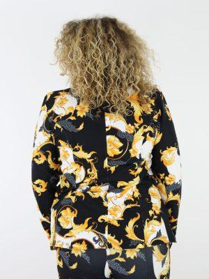 blazer-van-travelstof-in-zwart-en-wit-met-oranje-barok-print-thombiq