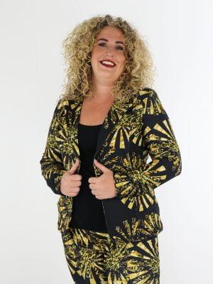 elegante-blazer-van-travelstof-in-zwart-met-gouden-print-thombiq