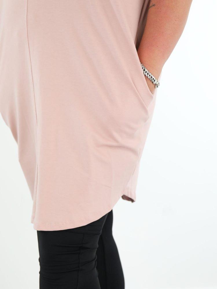 one-sisze-sweater-jurk-roze