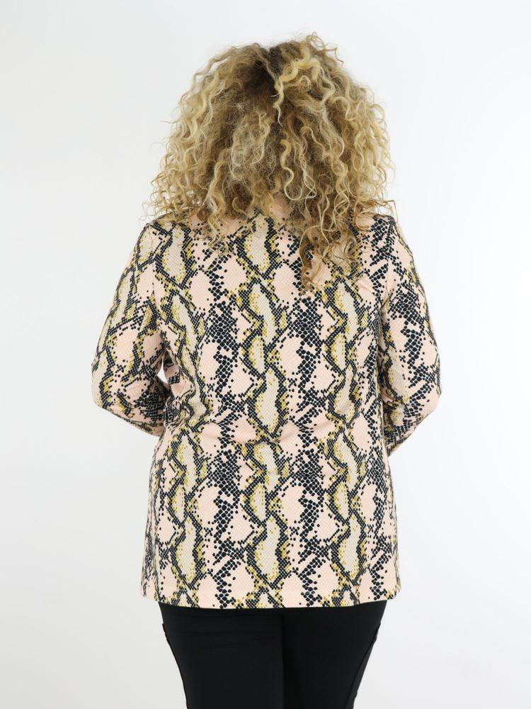 plus-size-blazer-in-roze-en-beige-met-goud-en-zwart-slangenprint