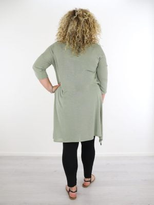 plus-size-plus-dun-geweven-vest-groen