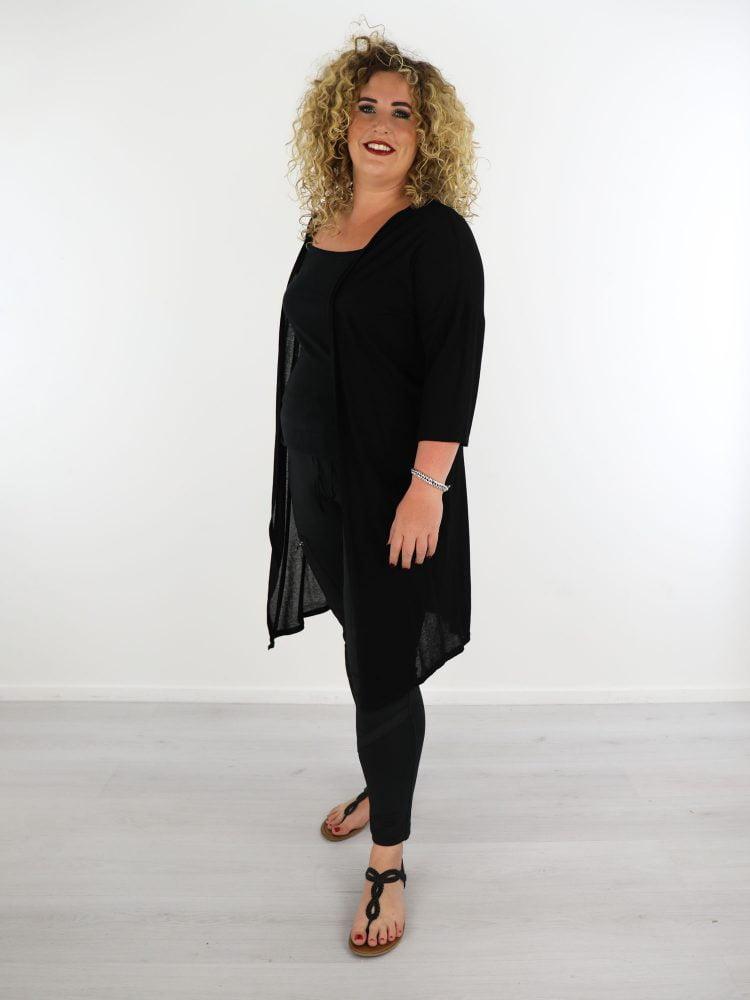 zwart-dun-geweven-vest-plus-size-one