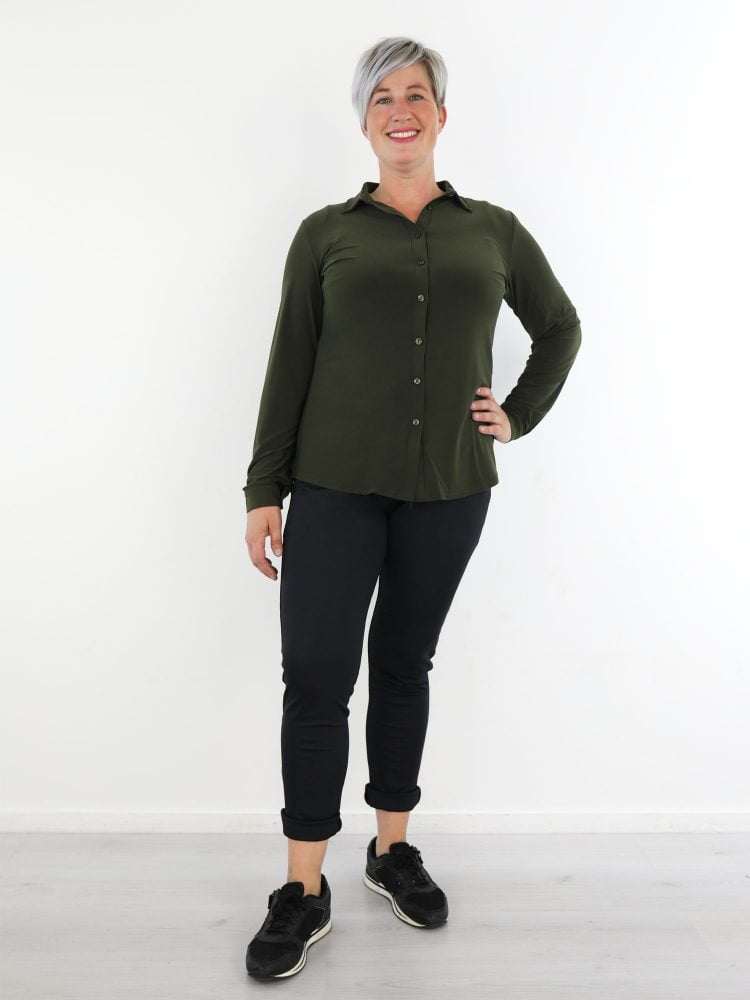 Army-groene-travelstof-blouse-van-Angelle-Milan