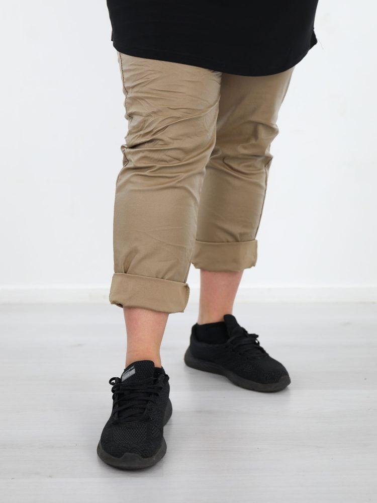 Goudkleurige-PU-broek-grote-maten