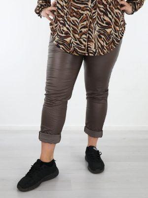 PU-broek-plus-size-bruine-kleur