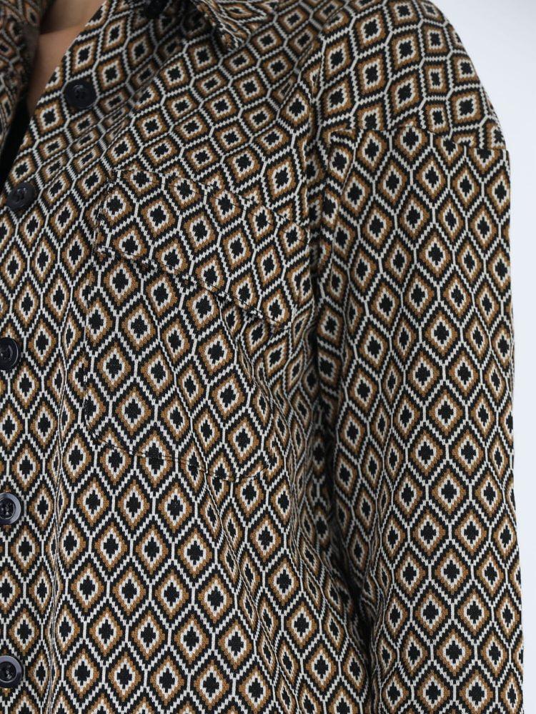 angelle-milan-lange-blouse-met-zwart-beige-honingraatprint