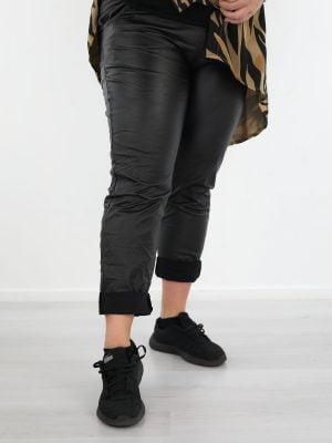 plus-size-Zwarte-PU-broek