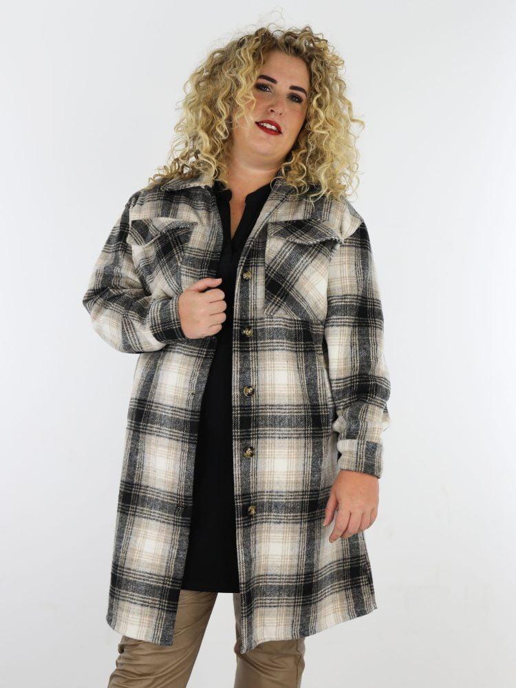 plus-size-blouse-jas-in-beige-en-zwart-geruit