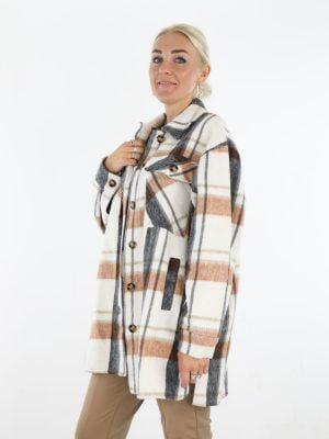 blouse-in-roomwit-met-camel-zwart-geruite-print
