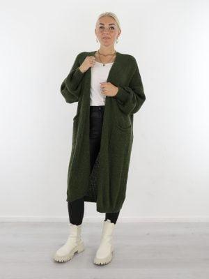 groen-gekleurd-lang-vest-van-het-merk-g-ricceri-met-zakken-en-ballonmouwen