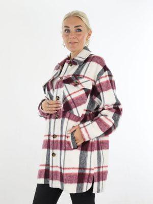 hippe-flanel-blouse-in-roomwit-met-zwarte-en-raspberry-kleur-accenten