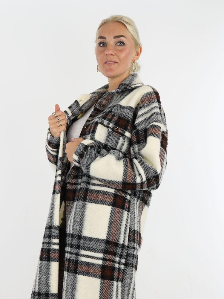 houthakkers-lange-blouse-jas-in-roomwit-met-bruin-en-zwart-detail-kleuren