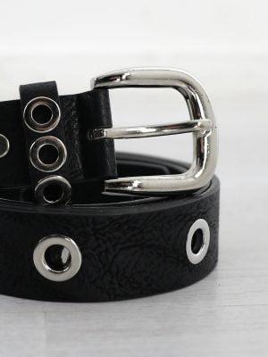 zwarte-smalle-leren-riem-met-ringen